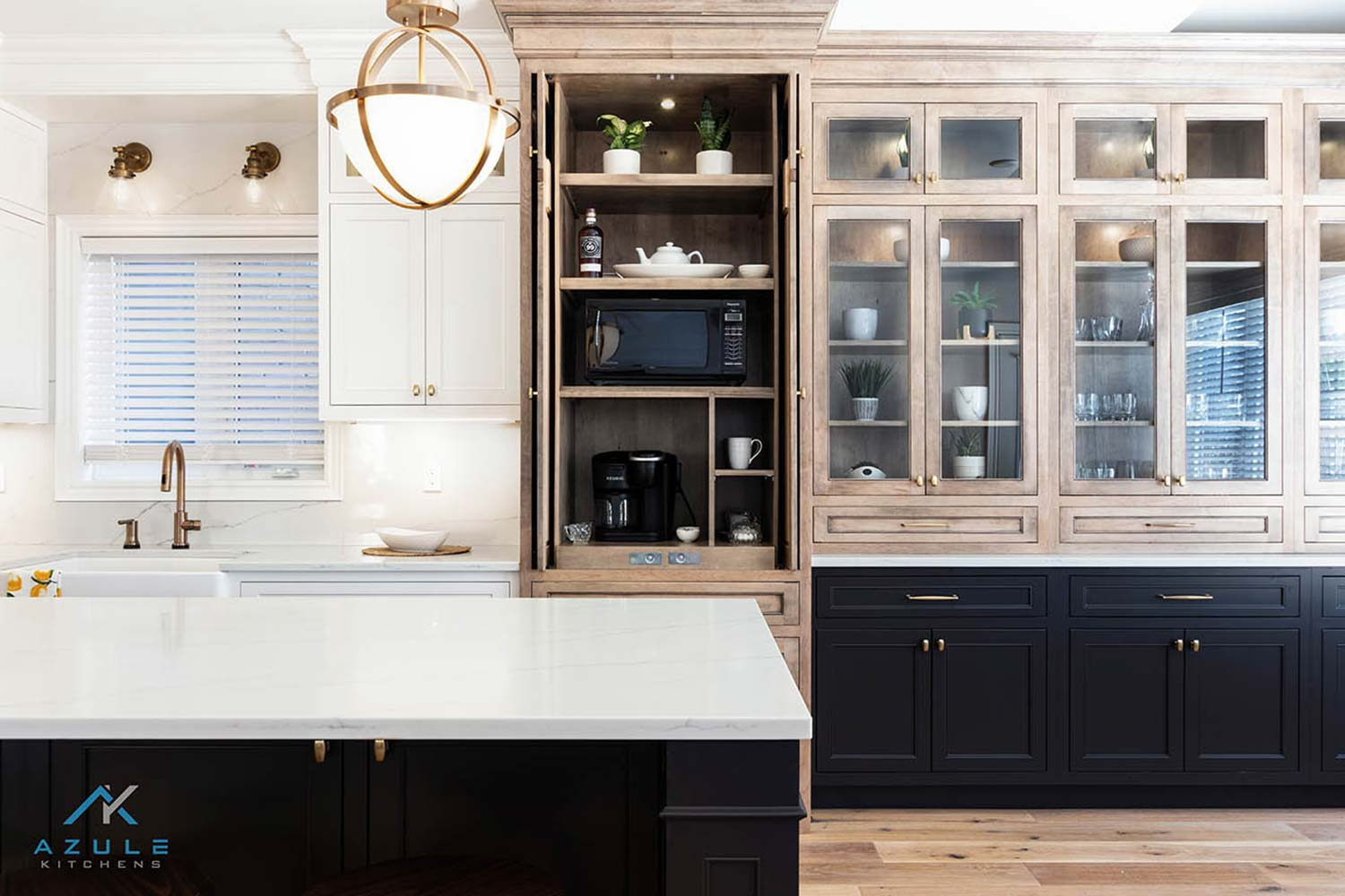 Azule Kitchens -How to Style Glass Kitchen Cabinets?