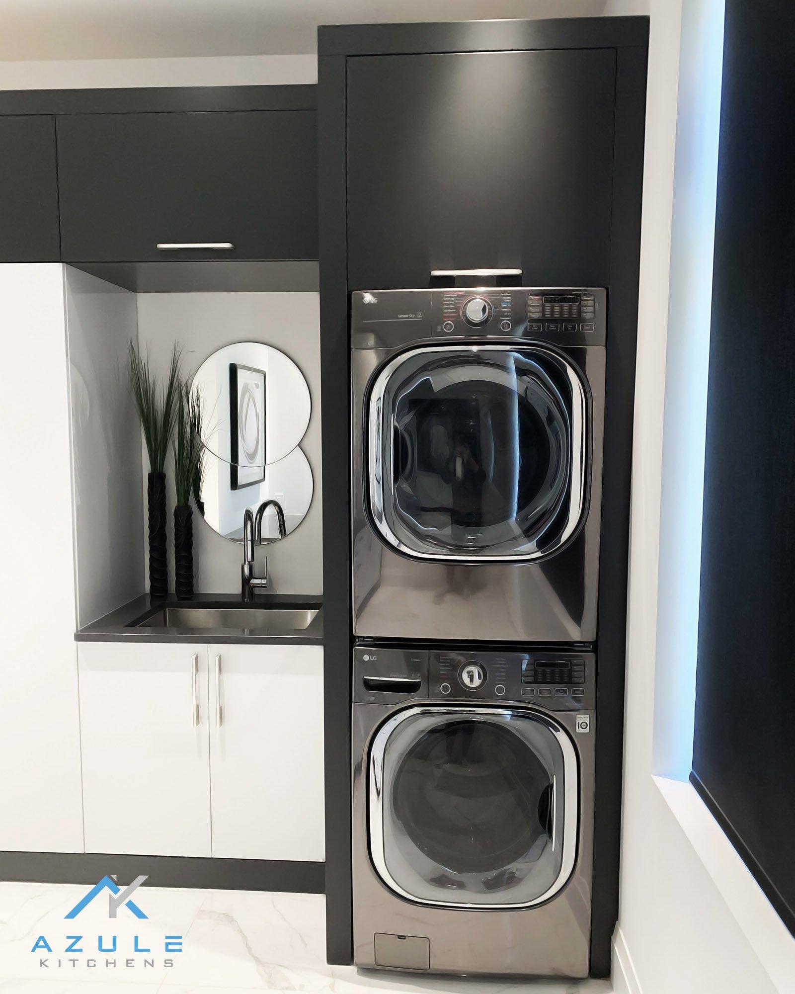 Azule Kitchens Stacked Custom Laundry Unit