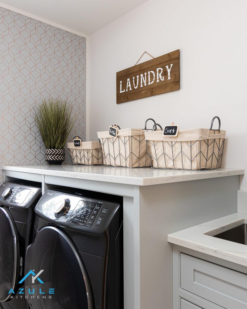Azule Kitchens Modern Bathroom Gloss White Storage Cabinet Basin