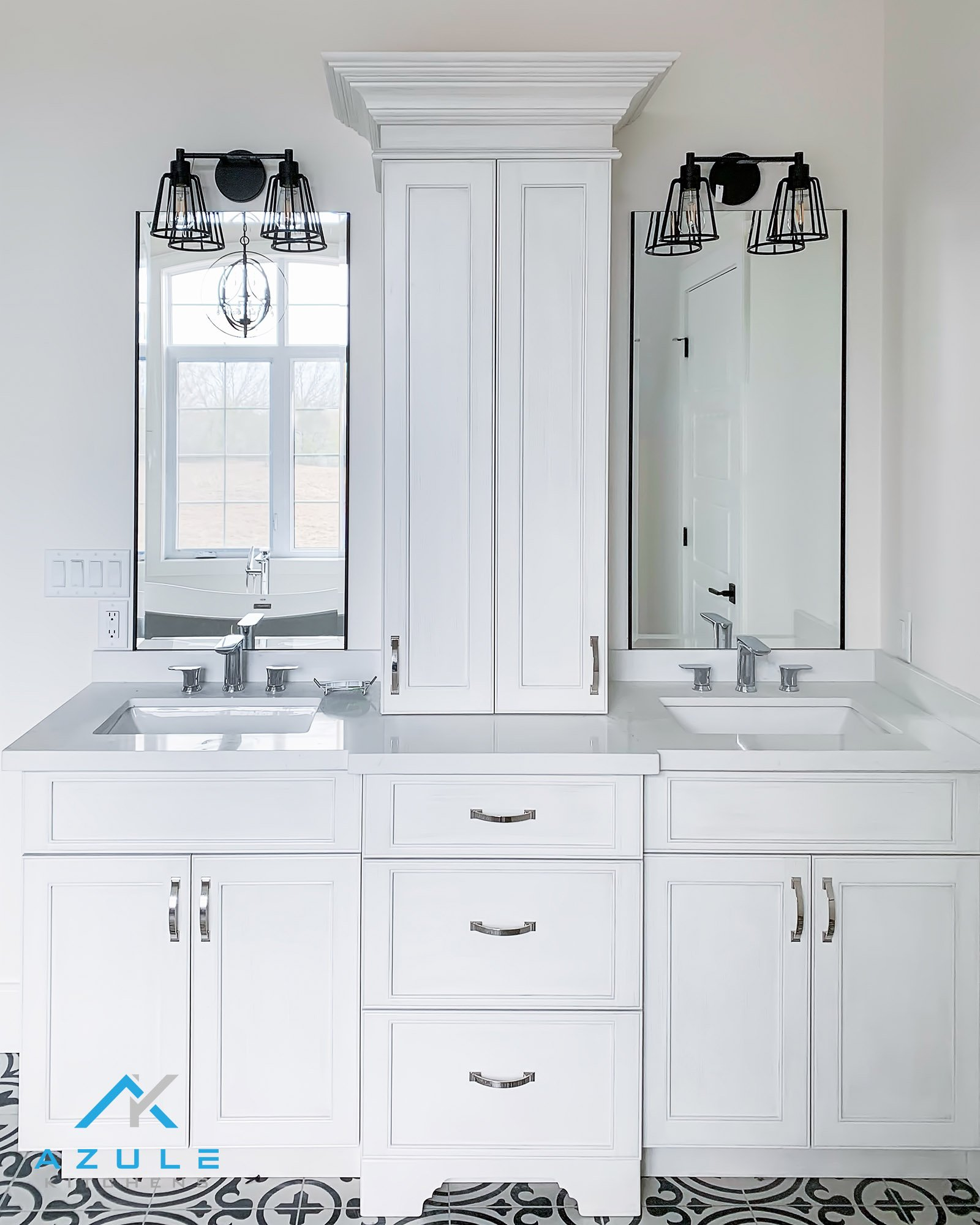 White Tower Vanity Custom Cabinets At Azule Kitchens