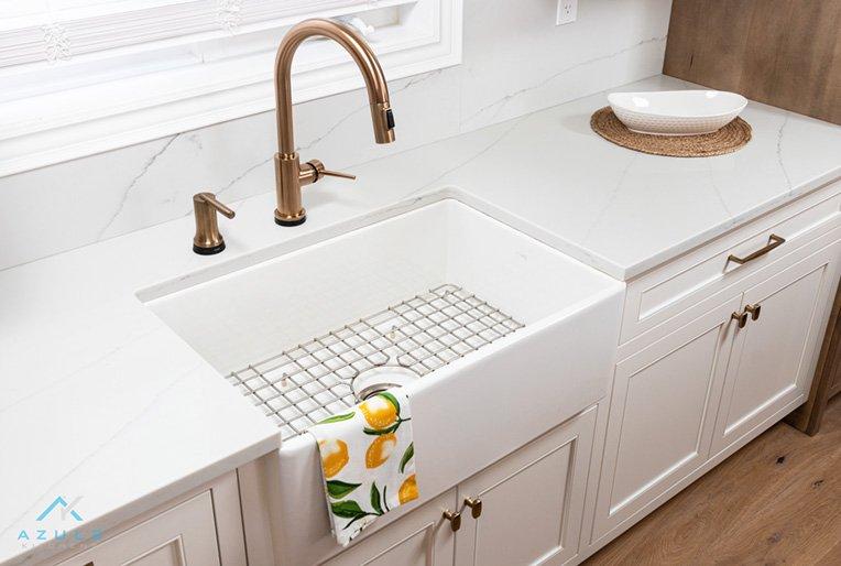 Home Quartz Countertops And Plumbing Azule Kitchens